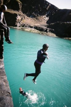 Cliff jumping in Wales
