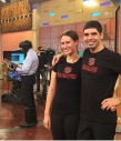 KME on set rehearsal for the Dr. OZ show
