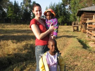 Faith, Irene and me on the Hope Homes International land